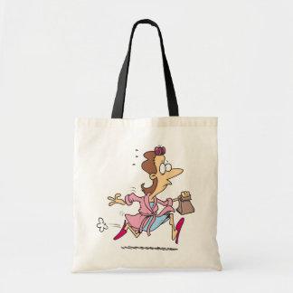 Mom Running Tote Bag