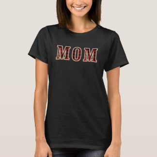 MOM Rustic Red Black Buffalo Checker Squares T-Shirt