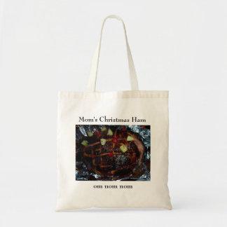 Mom s Christmas Ham Om nom nom Canvas Bags
