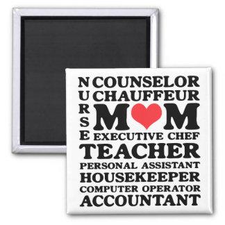 Mom s Jobs Mother s Day Magnet Fridge Magnet
