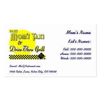 Mom s Taxi Custom Kids Retro Calling Business Card