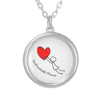 Mom Silver Plated Necklace