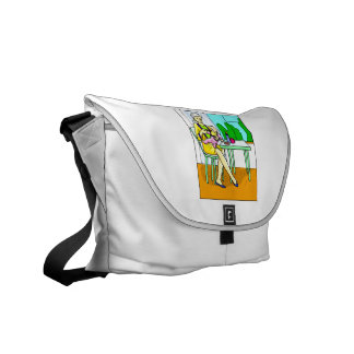 Mom sitting at table feeding baby graphic.png courier bag