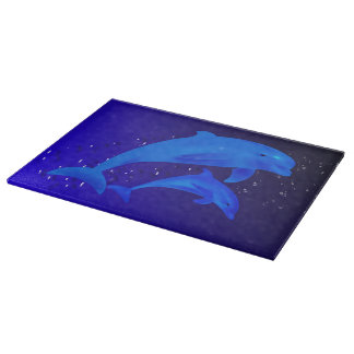 Mom & son dolphins cutting board