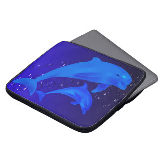Mom & son dolphins laptop sleeve