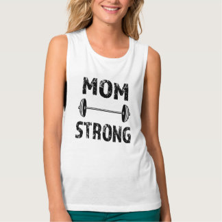 Mom Strong women's tank top  gym workout fitness
