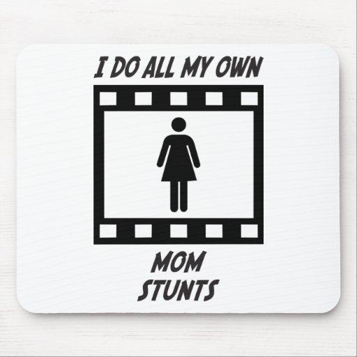Mom Stunts Mouse Pads