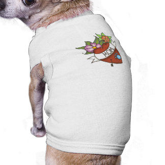 Mom tattoo pet shirt
