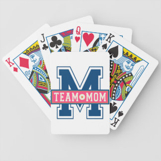 Mom team cool kid design bicycle playing cards