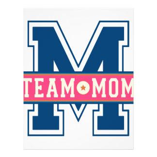 Mom team cool kid design letterhead