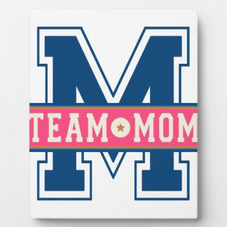 Mom team cool kid design plaque