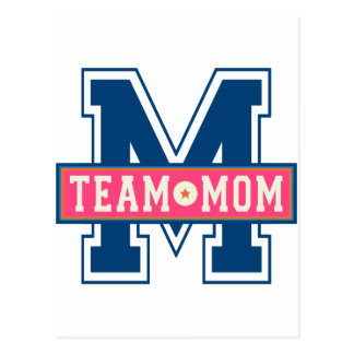 Mom team cool kid design postcard