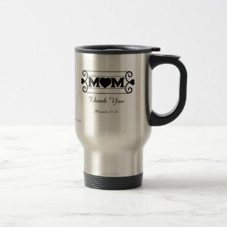 Mom Thank You Stainless Steel Travel Mug