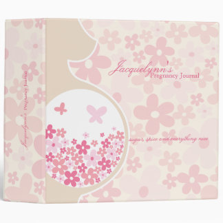 Mom To Be * Baby Girl Pregnancy Journal Binder