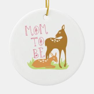 Mom To Be Ceramic Ornament