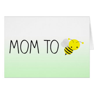 Mom to Be, Cute Bumblebee Green/Yellow Card