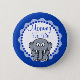 Mom to be Cute Elephant Baby Shower Button