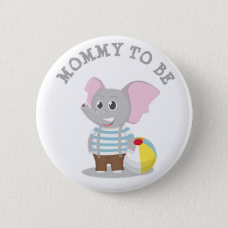 Mom to be Elephant Baby Shower Pin