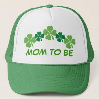 Mom To Be Irish St Patricks Four Leaf Clover Hat