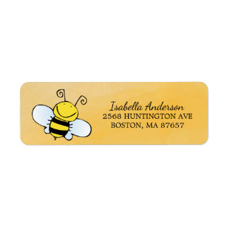 Mom to Bee Neutral Baby Shower Address Label