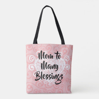 Mom to Many Blessings Hearts Adoption Tote Bag