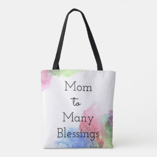 Mom To Many Blessings Tote Bag