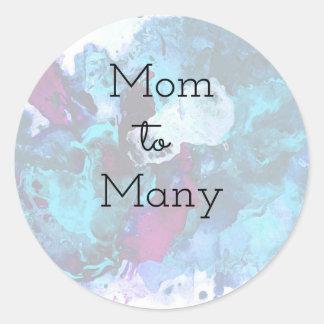 Mom To Many Classic Round Sticker