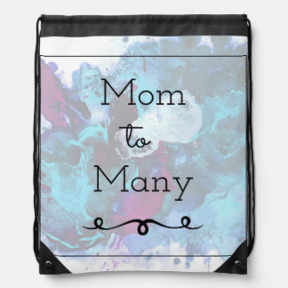 Mom To Many Drawstring Bag