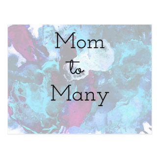 Mom To Many Postcard