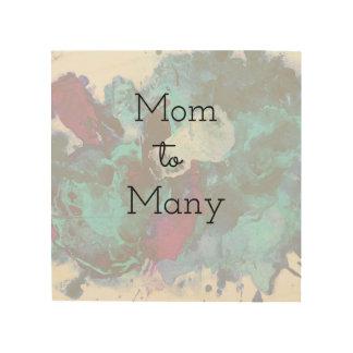 Mom To Many Wood Wall Decor