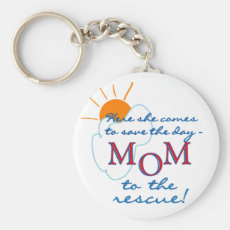 Mom to the Rescue Basic Round Button Keychain