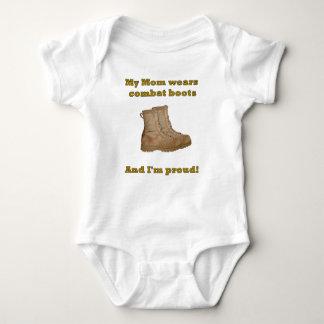 Mom Wears Combat Boots Baby Bodysuit