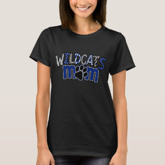MOM Wildcats Paw Black SS Tee