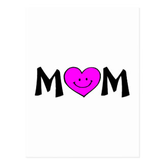 Mom with Smiley Face Postcard
