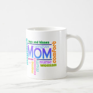 Mom Word Art Mug