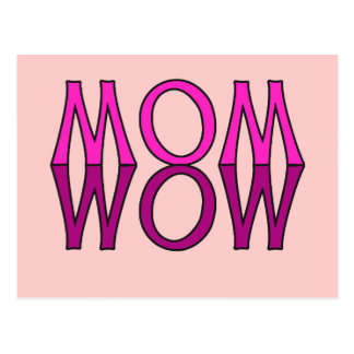 MOM WOW! Cool Mom's Day Tshirt Postcard