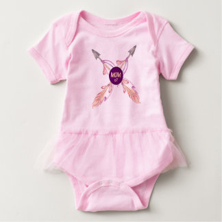 Mom x2 Feather Arrows Bohemian Baby Tutu Baby Bodysuit
