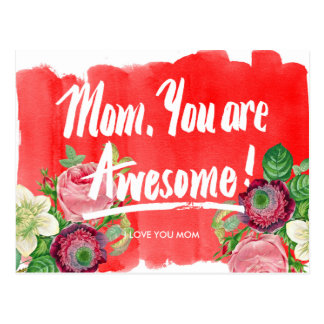 Mom, You Are Awesome Mother's Day Postcard