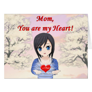 Mom, You are my Heart (Customizable) Card