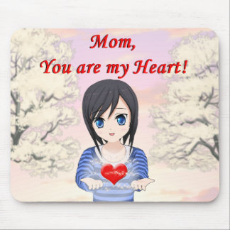Mom, You are my Heart (Customizable) Mouse Pad