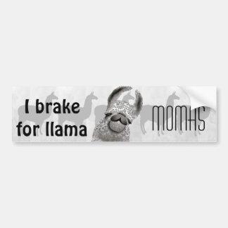 Moma Llama Menhdi Pattern Bumper Sticker