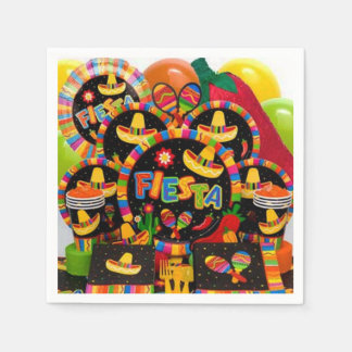 Momento de la Fiesta Cinco de Mayo Party Napkins Disposable Napkin