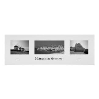Moments in Mykonos Poster