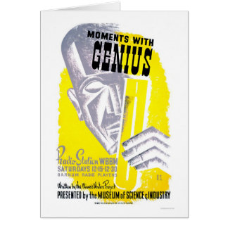 Moments With Genius 1941 WPA Greeting Card