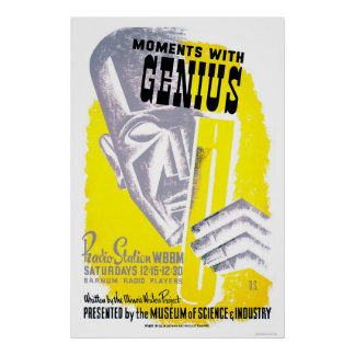 Moments With Genius 1941 WPA Poster