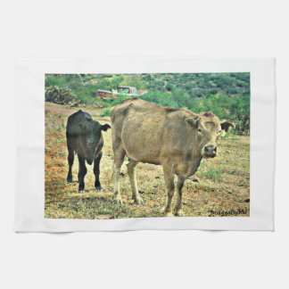 Momma and Baby Cow Kitchen Towel