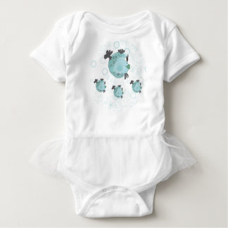Momma and Her Baby Fish Baby Bodysuit