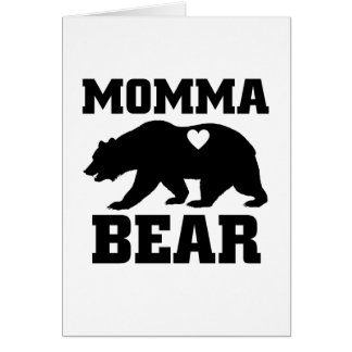 Momma Bear Best Gift Quote for mom shirt Card