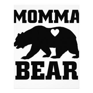 Momma Bear Best Gift Quote for mom shirt Letterhead
