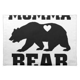 Momma Bear Best Gift Quote for mom shirt Placemat
